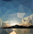 sunset in the style of origami vector image