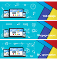 Web design layout of sites Seo promotion vector image