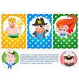 a set of cards with the image of neptune mermaids vector image