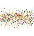 bright colorful confetti background vector image