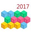 Calendar 2017 design stationery template vector image