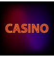 Casino word icon cartoon style vector image