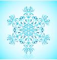 crystal snowflake vector image
