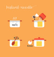 graphic info of cooking noodles vector image
