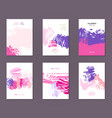 set of postcards vector image
