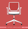 White modern office armchair over red background D vector image