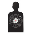 rifle target game vector image vector image