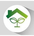 green ecology symbol plant natural design vector image