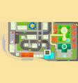 city map horizontal banner cartoon style vector image