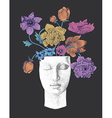 Flowers and decorative vase vector image