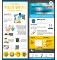 Education web site vector image