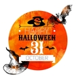 Halloween background Typographic poster Hand drawn vector image vector image
