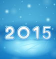 2015 on Ice and snow vector image