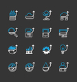 flat icons set of business finance outline vector image vector image