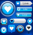 Like high-detailed modern buttons vector image