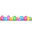 Seamless Easter egg border vector image