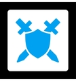 Guard Icon from Commerce Buttons OverColor Set vector image