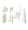 NYC Map 04 Building Isometric vector image
