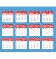 calendar 2017 year starts on monday vector image