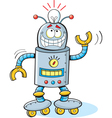 Cartoon thinking robot vector image
