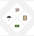 flat icon finance set of counter parasol vector image