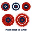 Poppies elements vector image