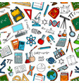 science and education seamless pattern background vector image