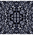 Silver baroque pattern vector image