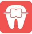 Tooth with Braces vector image
