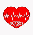 international nurses day with red vector image
