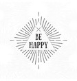 be happy tribal boho style frame starburst logo vector image