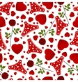seamless background by St Valentines Day vector image vector image