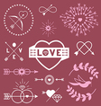 Romantic designs vector image