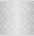 Silver baroque bright pattern vector image
