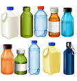 Different bottles vector image