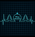 Heartbeat make Christmas symbols stock vector image