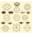 Vintage labels and royal crowns vector image vector image