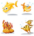 Fish and reef vector image