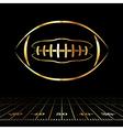 Golden American Football vector image