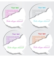 paper bubble speech vector image