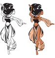 arabic belly dance vector image