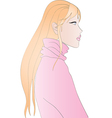 Beautiful blonde girl vector image