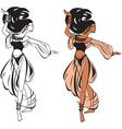 Arabic belly dance vector image