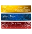 Christmas banners with snowy backgrounds vector image