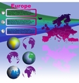 Europe map on blue background vector image