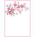 Floral Branch Card vector image