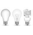 light bulbs vector image