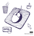 Mouse Mouse pad Cursors and buttons vector image