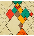 Rhombus retro abstract background ornament vector image