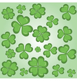 Shamrock wallpaper vector image